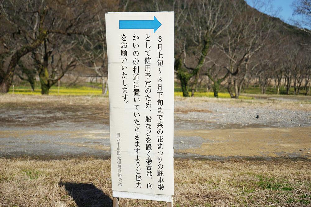 入田のヤナギ林 祭り看板
