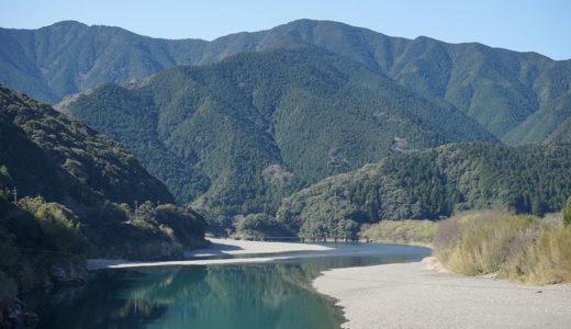 【勝間沈下橋】広い河原と雄大な山々でのんびり気分満喫!