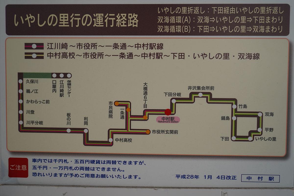 中村駅の路線バス