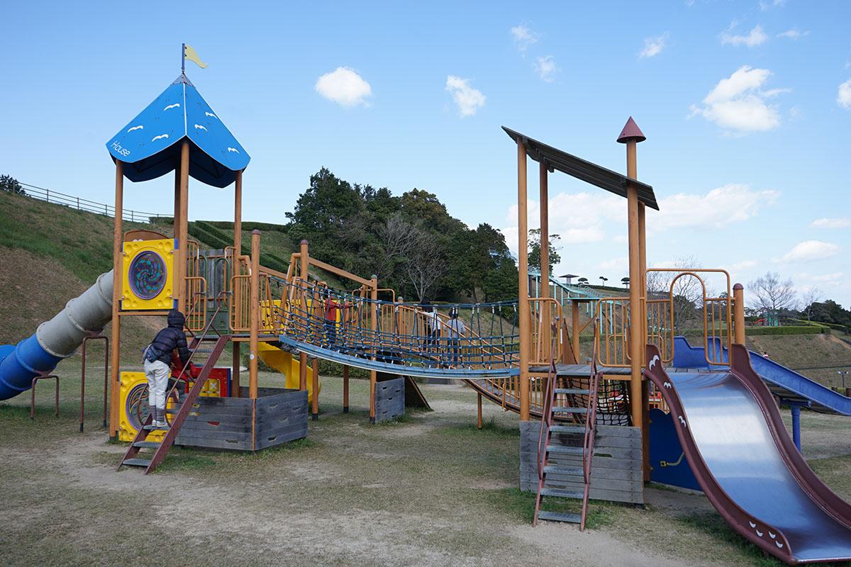 土佐西南大規模公園わんぱく広場のアスレチッック