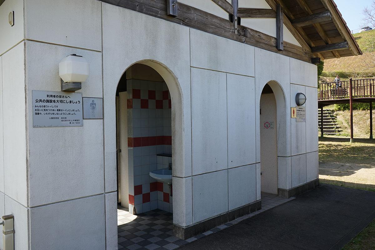 土佐西南大規模公園わんぱく広場のトイレ