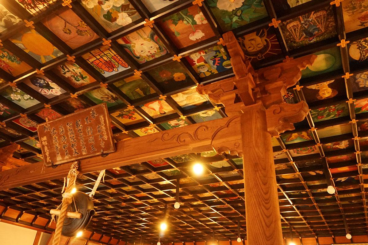 岩本寺の天井板絵