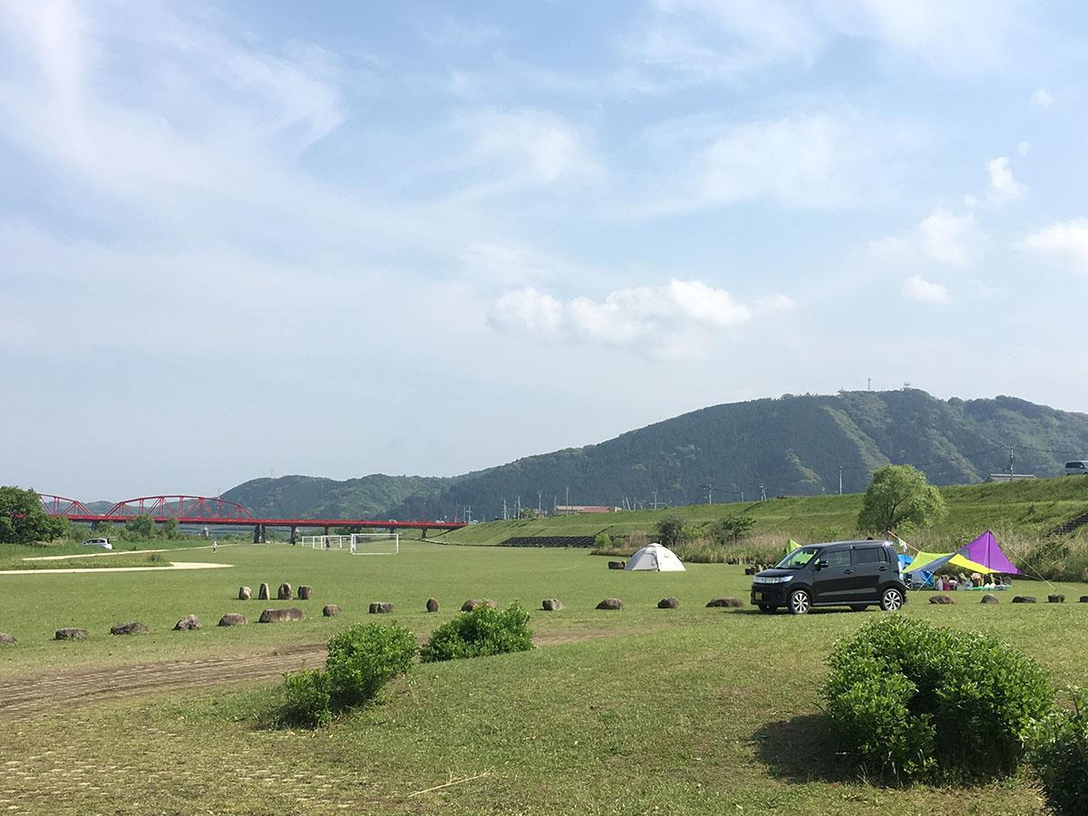 四万十川キャンプ場のテントサイト