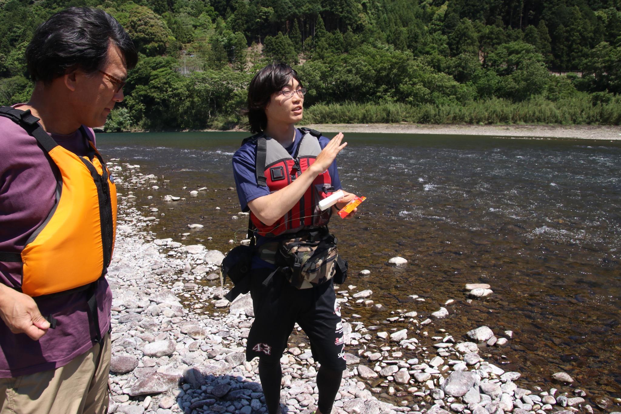 四万十楽舎のテンカラ釣り体験
